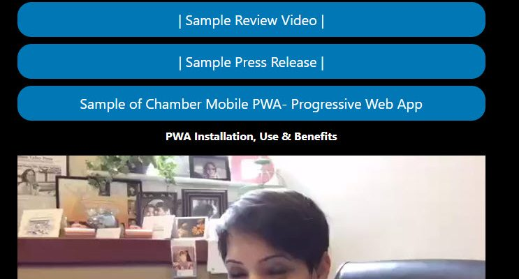 goshen chamber link to the progressive web app