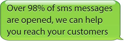 Over 98% of sms messages are opened